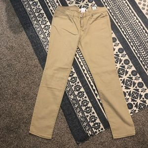 No Boundaries tan skinny pants
